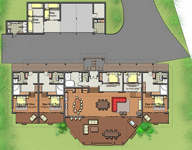 The edge holiday house floor plans for Weekend cottage plans